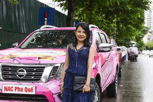 VOC 2018: 2 tay đua nữ của đội Navara NAC 'khoe' xe màu hồng trước giờ thi đấu