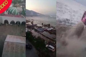 Sóng thần cao 2 m tấn công thành phố ở Indonesia sau động đất 7,5 độ Richter