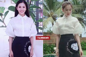 Diện chung một thiết kế, Hoa hậu Trần Tiểu Vy và Ngọc Trinh 'bất phân thắng bại'