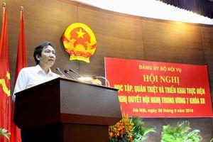 Hội nghị học tập, quán triệt và triển khai thực hiện Nghị quyết Hội nghị Trung ương 7 Khóa XII của Đảng