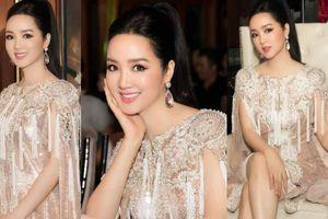 Hoa hậu Giáng My mặc đẹp tựa nữ thần chấm thi HH Doanh nhân Quốc tế