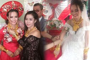 Cô dâu Kiên Giang được trao 129 cây vàng vào ngày cưới