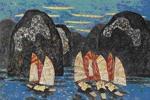 Triển lãm 'Lam' tôn vinh hội họa sơn ta