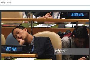 Sự thật sau bức ảnh thành viên phái đoàn Việt Nam ngủ say tại phòng họp LHQ