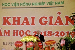Tổng Bí thư Nguyễn Phú Trọng dự Lễ khai giảng năm học mới Học Viện Nông nghiệp Việt Nam