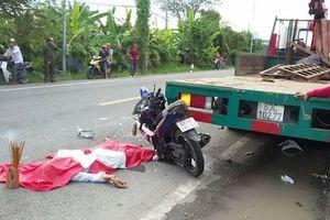 Tông vào xe tải cẩu, một người tử vong tại chỗ