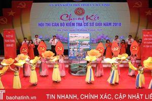 Chung kết Hội thi Cán bộ kiểm tra cơ sở giỏi tỉnh Hà Tĩnh
