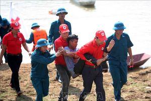 Hội Chữ thập đỏ thành phố Hà Nội diễn tập ứng phó với thiên tai, bão lũ
