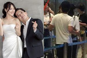 Vợ chồng Trường Giang - Nhã Phương diện đồ đôi ở sân bay, chuẩn bị đi tuần trăng mật?