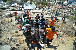 Khu mộ tập thể chôn hàng trăm nạn nhân vụ động đất Indonesia