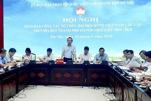 Hà Nội Tập trung tuyên truyền về Đại hội MTTQ Việt Nam các cấp