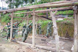 Đồn Biên phòng Pa Tần hỗ trợ xây dựng mái ấm cho người nghèo
