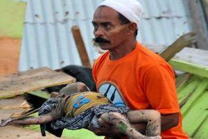 Những hình ảnh cho thấy mức độ tàn phá kinh hoàng của động đất, sóng thần ở Indonesia