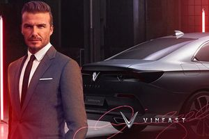 David Beckham tham dự lễ ra mắt xe VinFast tại Paris Motor Show 2018