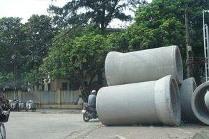 TP Hưng Yên: Người dân nơm nớp lo tai nạn rình rập khi công trường thi công