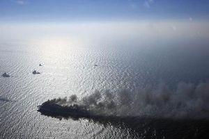 Phà chở 335 người bốc cháy trên biển Baltic