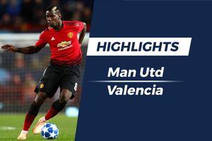Highlights MU - Valencia: 'Quỷ đỏ' gây thất vọng