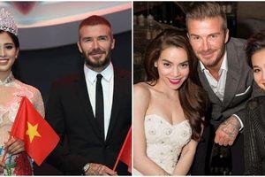 Hoa hậu Tiểu Vy, Hà Hồ, Tóc Tiên: Ai nổi nhất khi sánh vai Beckham?