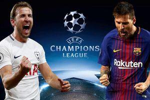 Lịch thi đấu Champions League ngày 3/10: Tottenham đại chiến Barca