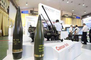 Dàn vũ khí tại triển lãm quốc tế về an ninh tại Hà Nội
