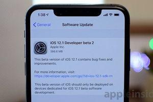 iOS 12.1 beta 2 vừa được Apple phát hành, sửa lỗi sạc pin trên iPhone Xs/Xs Max