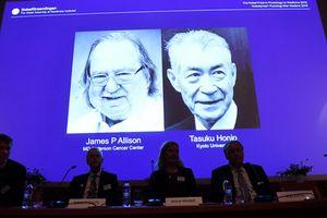 Phát minh về điều trị ung thư, 2 khoa học gia Nhật và Mỹ đoạt Giải Nobel Y Sinh 2018