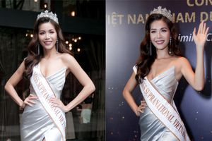 Minh Tú khoe chân thon, vòng một đầy đặn khi công bố mình là đại diện tại Hoa hậu Siêu quốc gia