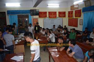 Ninh Bình: Bắt giữ 34 đối tượng đánh bạc, thu gần 500 triệu đồng