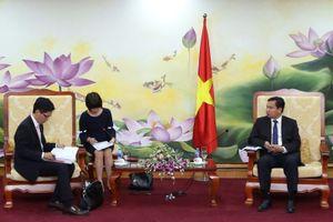 Thứ trưởng Bộ Kế hoạch và Đầu tư tiếp Công sứ Nhật Bản tại Việt Nam
