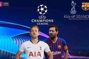 Đội hình dự kiến Tottenham vs Barca: Harry Kane-Lionel Messi 'đấu súng'