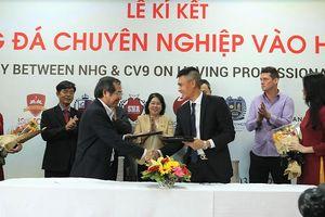 Tập đoàn giáo dục Nguyễn Hoàng đưa bóng đá chuyên nghiệp vào học đường