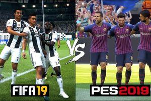 Clip: So sánh chuyển động của cầu thủ trong FIFA 19 và PES 2019