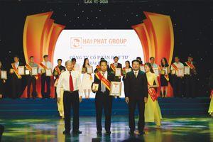 Hải Phát Invest được tôn vinh tại Lễ trao giải Sao vàng doanh nhân Đất Việt 2018