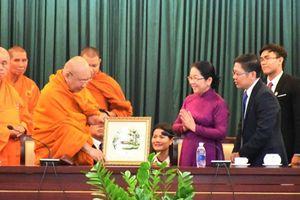 Lãnh đạo Thành phố Hồ Chí Minh tiếp đoàn Phật giáo Thái Lan