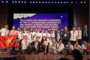 Đội tuyển Olympic Toán và Khoa học quốc tế 2018 của Hà Nội giành 8 huy chương Vàng