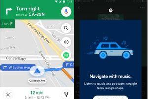 Từ hôm nay, ứng dụng nghe nhạc Spotify chính thức tích hợp trên Google Maps