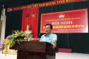 Phó Chủ nhiệm Ủy ban các vấn đề xã hội của quốc hội Bùi Sỹ Lợi: Nếu còn thuốc trừ sâu trong lòng đất, yêu cầu Nicotex Thanh Thái khai đào