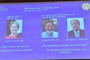 Nobel Hóa học 2018 vinh danh các nhà khoa học Mỹ và Anh