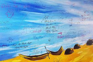 Bị vẽ bậy, Đà Nẵng tháo dỡ tranh kỷ lục tại hầm đi bộ bờ Tây cầu Rồng