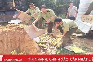 Quản lý thị trường Hà Tĩnh 'tuyên chiến' với thực phẩm bẩn