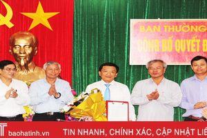 Bí thư Đảng ủy Khối Doanh nghiệp Hà Tĩnh giữ chức Bí thư Huyện ủy Hương Sơn