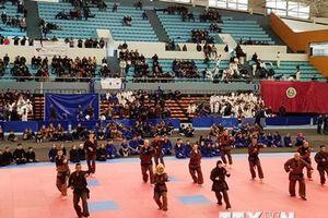 Đại sứ gặp gỡ đoàn vận động viên võ cổ truyền Việt Nam tại Algeria