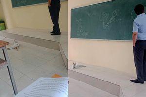 'Vị khách không mời' chăm đến lớp được thầy giáo cho lên tận bục giảng học bài gây sốt mạng xã hội