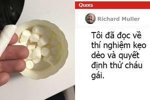 Giáo sư thực hiện 'thí nghiệm kẹo dẻo' với cháu gái 3 tuổi, kết quả làm ông 'tan chảy'