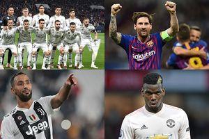 BXH 20 đội bóng xuất sắc nhất châu Âu năm 2018: Real = MU + 15