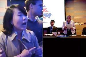 Phóng viên Đài Truyền hình Trung ương Trung Quốc phá rối ở London
