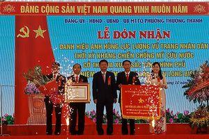Phường Thượng Thanh đón nhận danh hiệu Anh hùng LLVT nhân dân