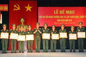 Bế mạc hội thi Tiểu đoàn trưởng vận tải cấp chiến thuật, chiến dịch toàn quân