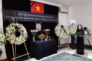 Lễ viếng và mở Sổ tang nguyên Tổng Bí thư Đỗ Mười tại Myanmar