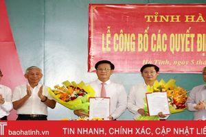 Công bố các quyết định về công tác cán bộ thành phố Hà Tĩnh